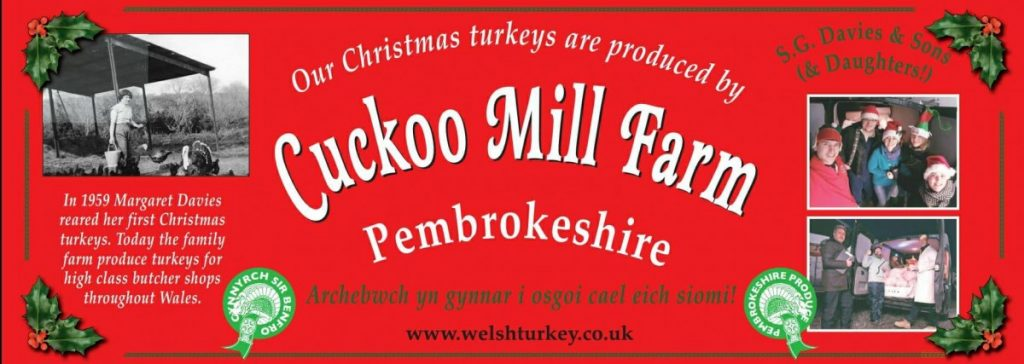 Celebrate Christmas with a Pembrokeshire Cuckoo Mill turkey