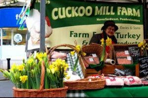 Mama at Easter market
