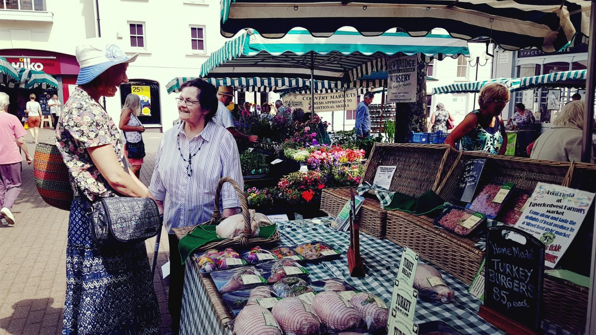 Mama at Farmers Market